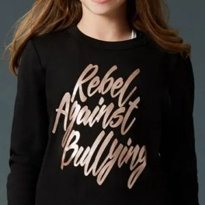 "Rebel Athletic ""Rebel against bullying"" sweatshirt"